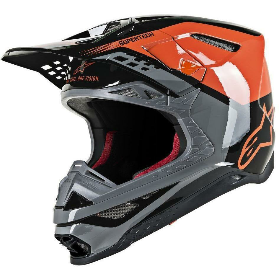 Alpinestars Supertech M-8 Triple Helmet Alpinestars To Do ORANGE/GREY/BLACK 2XL