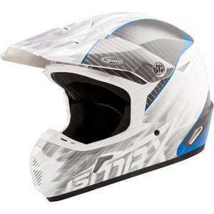 GMAX YOUTH MX-46Y OFF-ROAD COLFAX HELMET 2020 GMAX 2020 WHITE/BLUE YL