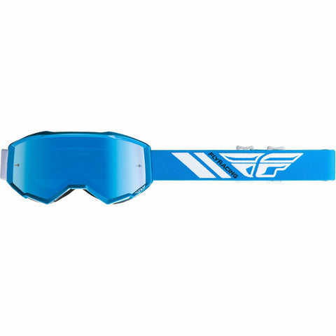 Fly Racing 2019 Zone Goggle Goggles Fly Racing BLUE W/SKY BLUE MIRROR LENS YOUTH