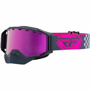 Fly Racing Zone Snow Goggle 21 Fly Racing 2021 Grey/Pink W/Pink Mirror/Rose Lens 21