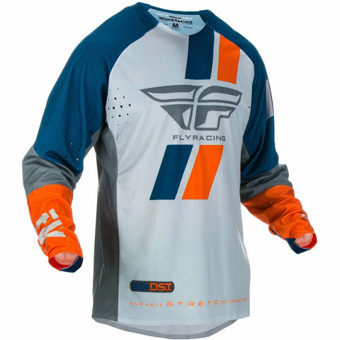 Fly Racing Evolution DST Jersey Jersey Fly Racing NAVY/GREY/ORANGE 2X