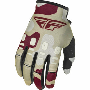 Fly Racing Youth Kinetic K221 Gloves 21 Fly Racing 2021 STONE/BERRY 4