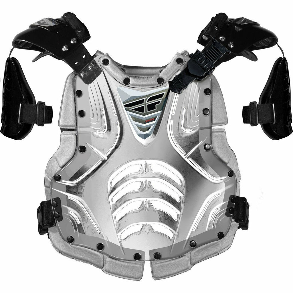 Fly Racing Convertible II Adult/Junior Roast Guard Body Armor Fly Racing CLEAR/SILVER ADULT
