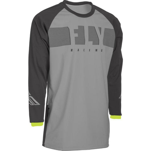 Fly Racing Windproof Jersey Jersey Fly Racing Grey/Hi-Vis SM