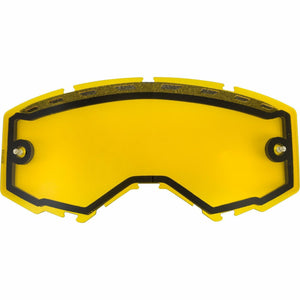 Fly Racing 2019 Zone/Focus Snow Goggle Replacement Vented Lens Accessories Fly Racing YELLOW w/ POST