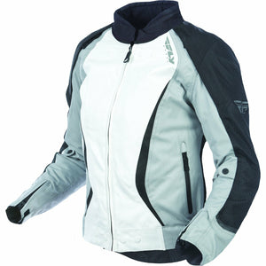 Fly Racing Women's Motocross Butane Jacket Jacket Fly Racing BLACK/WHITE 3X