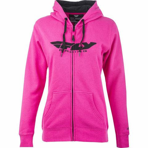 Fly Racing Women's Corporate Zip Up Hoodie Hoodie Fly Racing PINK 2X