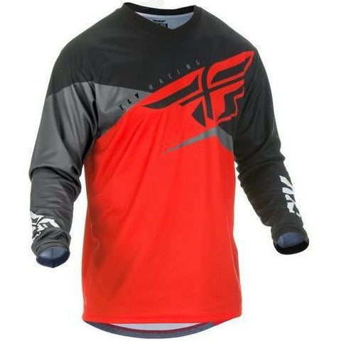 Fly Racing F-16 Jersey Jersey Fly Racing Red/Black/Grey Youth X-Large