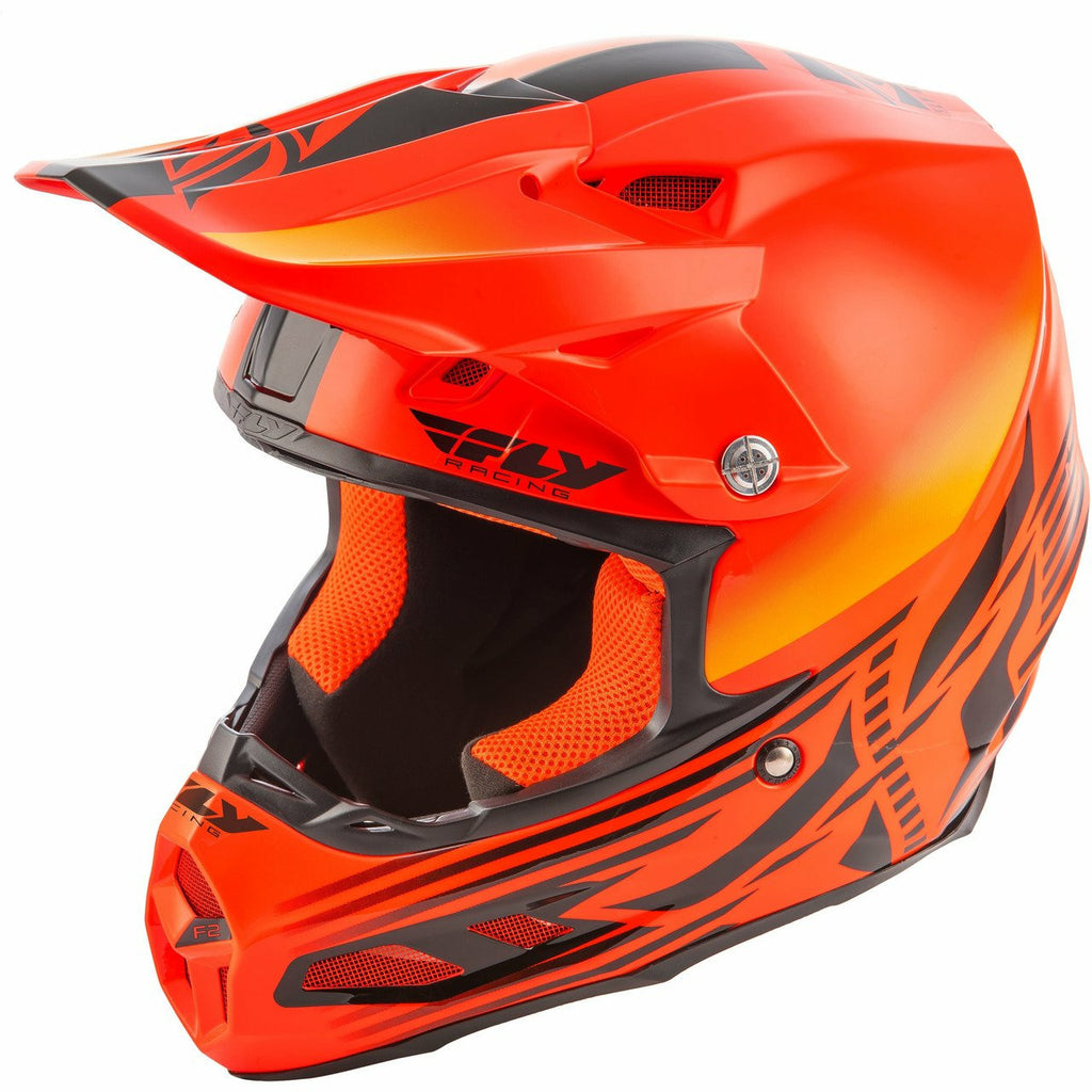 Fly Racing F2 Carbon Cold Weather Shield Helmet Fly Racing Off-Road Hi-Vis/Orange 2X