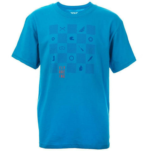 Fly Racing Youth Checkers Tee T-Shirt Fly Racing TURQUOISE YL