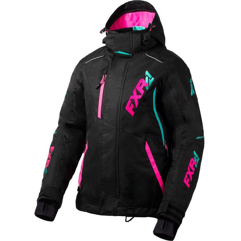 FXR Vertcal Pro Women's Jacket 2020 Jacket FXR 2020 Black/Elec Pink/Mint 2