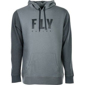 Fly Racing Badge Pullover Hoodie 2020 Casual Fly Racing GREY 2X