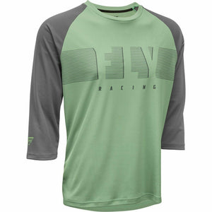 Fly Racing Ripa 3/4 Sleeve Jersey 21 Fly Racing 2021 Sage/Charcoal Grey 21 2X