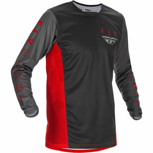 Fly Racing Youth Kinetic K121 Jersey 21 Fly Racing 2021 RED/GREY/BLACK YL