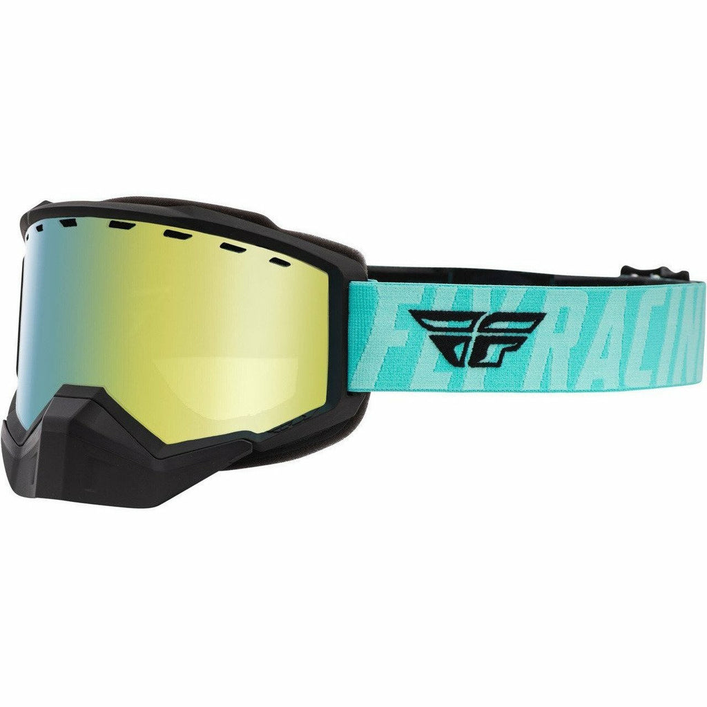 Fly Racing Focus Snow Goggle 21 Fly Racing 2021 Black/Mint W/Gold Mirror/Smoke Lens 21