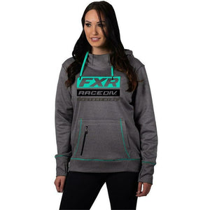 FXR Race Division Tech Women's Pullover Hoodie 2020 Hoodie FXR 2020 Gry Heather/Mint XS