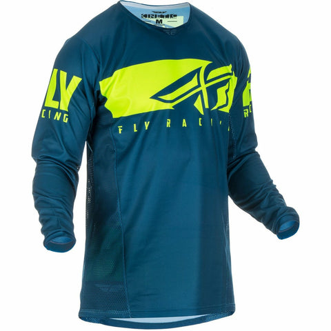 Fly Racing Kinetic Shield Jersey Jersey Fly Racing Navy/Hi-Vis 2X