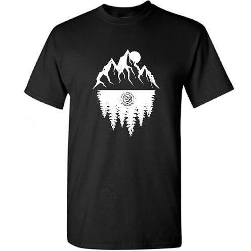 2020 MFP - Mountain/Tree Top Tee Casaul MoreFreakinPower Black SM