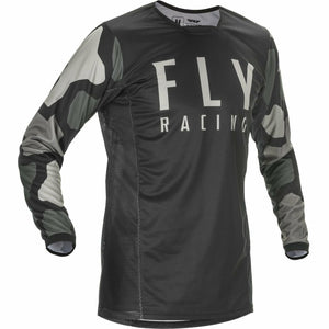 Fly Racing Youth Kinetic K221 Jersey 21 Fly Racing 2021 BLACK/GREY YL