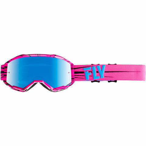 Fly Racing 2019 Zone Goggle Goggles Fly Racing PINK/TEAL W/SKY BLUE MIRROR LENS ADULT