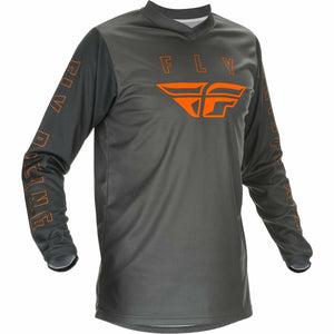 Fly Racing Youth F16 Jersey 21 Fly Racing 2021 GREY/ORANGE YL