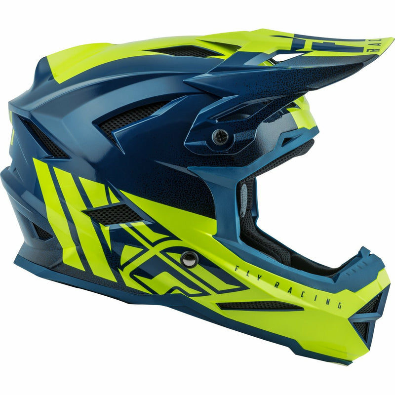 Fly Racing Default Helmet Helmet Fly Racing TEAL/HI-VIS YELLOW YS
