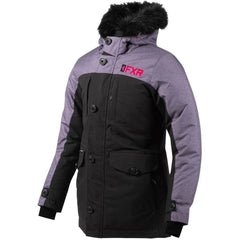 FXR Svalbard Woman's Parka 2020 Jacket FXR 2020 Black/Mid Grey Heather/Elec Pink 2
