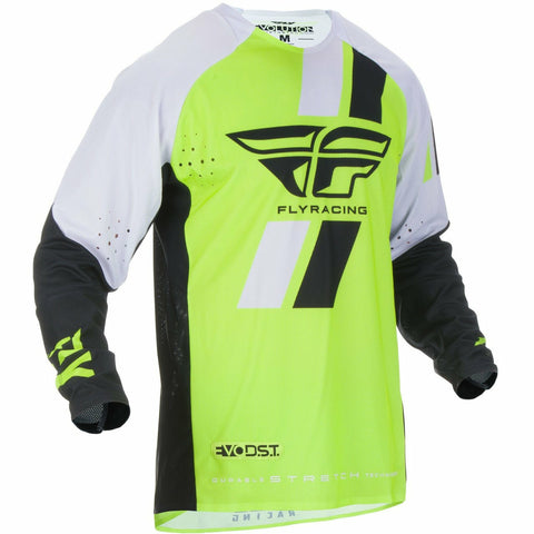 Fly Racing Evolution DST Jersey Jersey Fly Racing HI-VIS/BLACK/WHITE YX