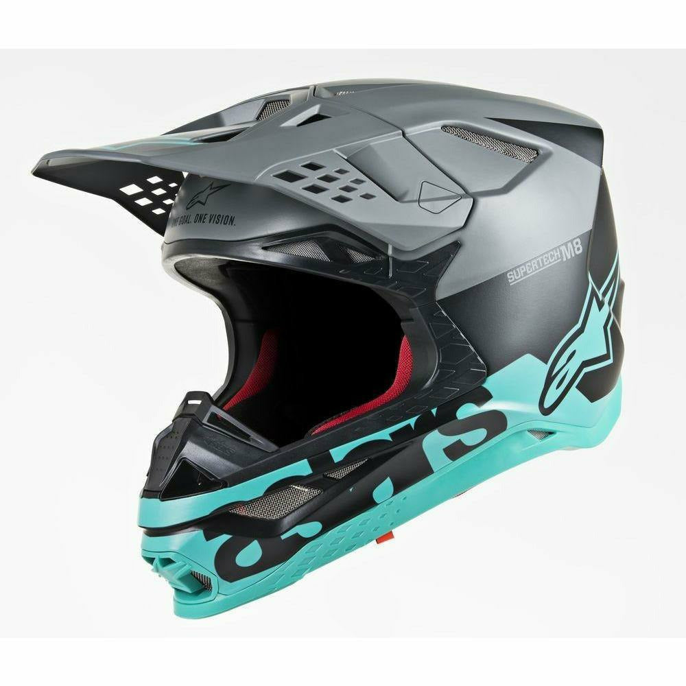 Alpinestars Supertech M8 Radium Helmet Alpinestars To Do BLACK/GREY/TEAL 2XL