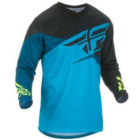 Fly Racing F-16 Jersey Jersey Fly Racing Blue/Black/Hi-Vis Youth X-Large