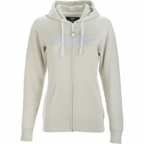 Fly Racing Women's Corporate Zip Up Hoodie Hoodie Fly Racing IVORY 2X