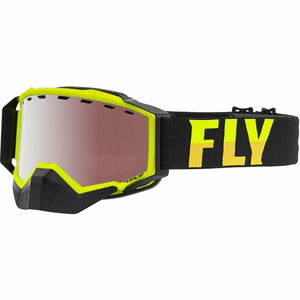 Fly Racing Zone Pro Snow Goggle 21 Fly Racing 2021 Hi-Vis/Black W/Silver Mirror/Ploarized Rose Lens 21