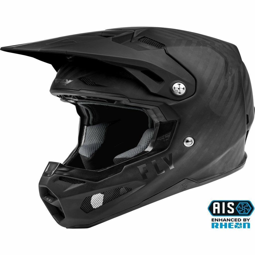 Fly Racing Formula Carbon Solid Helmet 21 Helmet Fly Racing MATTE BLACK CARBON 2X