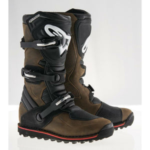 Alpinestars Tech T Boots Footwear ALPINESTARS BROWN OILED LEATHER 5
