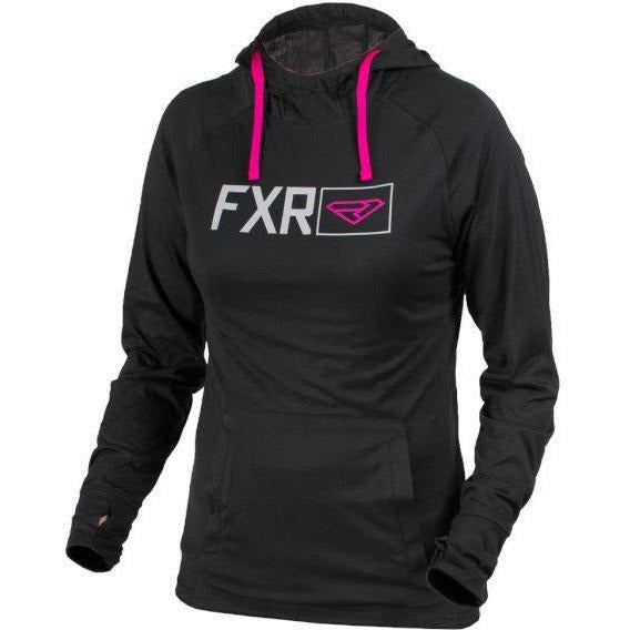 FXR Dash Tech PO Womens Hoodie | Clearance Hoodie FXR Blk/Wineberry L