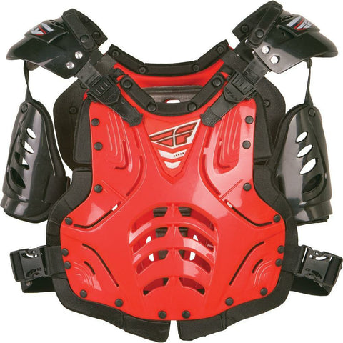 Fly Racing Convertible II Adult/Junior Roast Guard Body Armor Fly Racing RED JUNIOR
