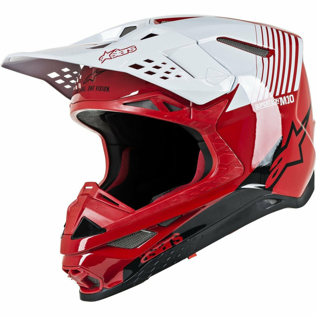 Alpinestars Supertech M10 Dyno Helmet Alpinestars To Do GLOSS RED/WHITE 2XL