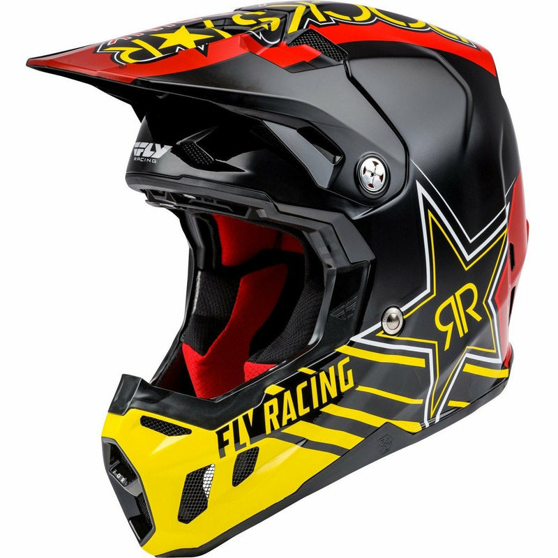 Fly Racing Formula CC Rockstar Helmet 21 Helmet Fly Racing BLACK/RED/YELLOW 2X