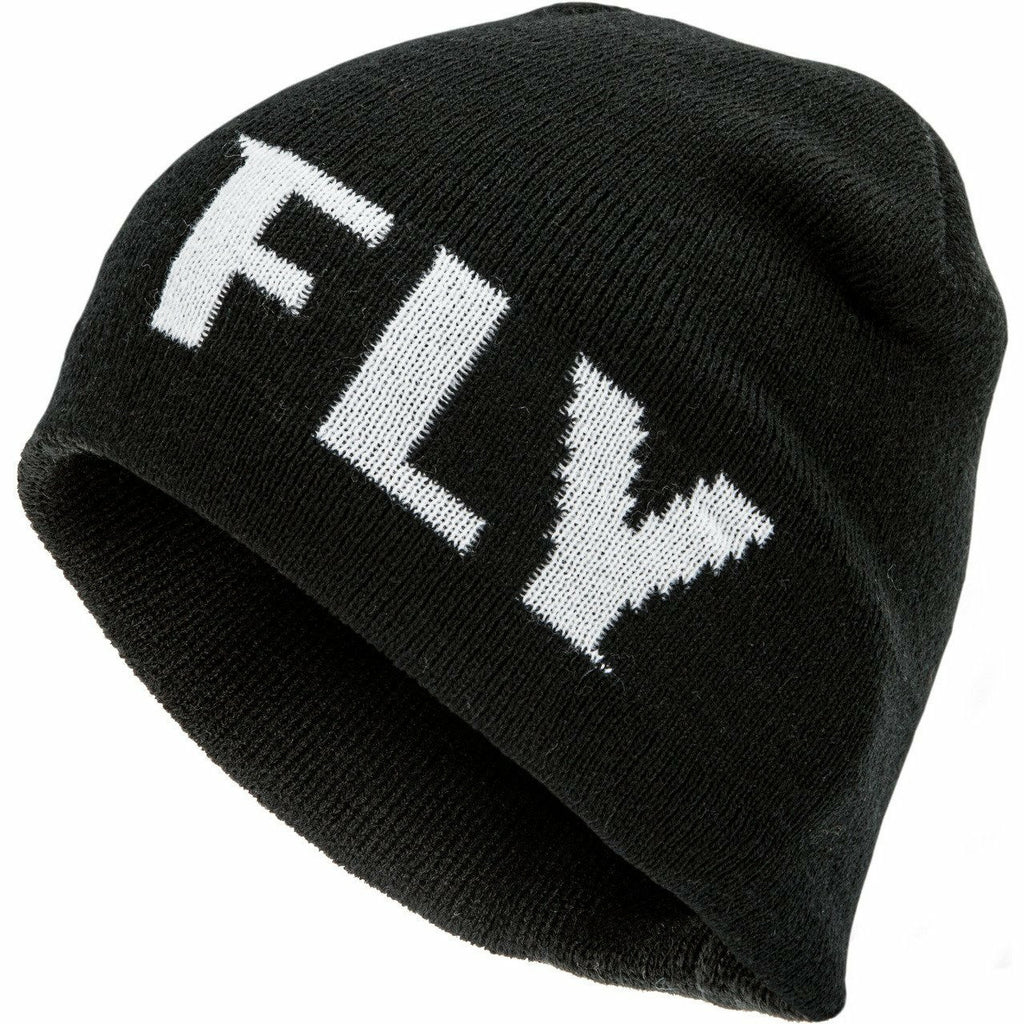 Fly Racing Fitted Beanie 21 Beanie Fly Racing BLACK/WHITE OS