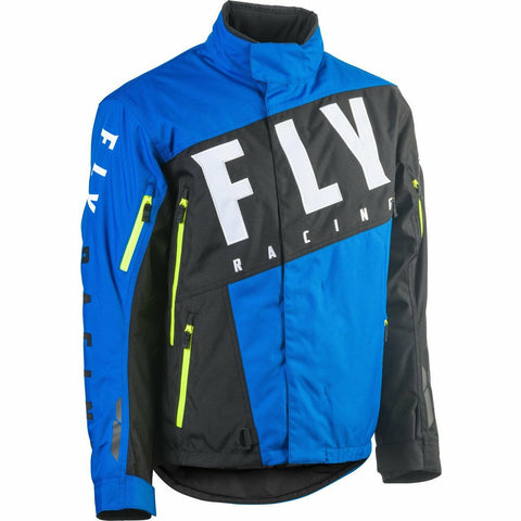 Fly Racing SNX Pro Jacket 2020 Jacket Fly Racing BLUE/BLACK/HI-VIS YL
