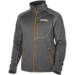 FXR Trekker Sherpa Tech Men's Zip-up Jacket FXR Charcoal Heather/Orange Medium