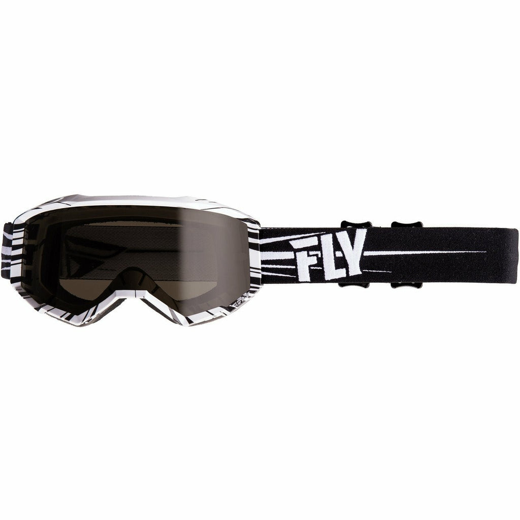 Fly Racing Watersport Zone Goggle Fly Racing Off-Road Black/White W/Dark Smoke