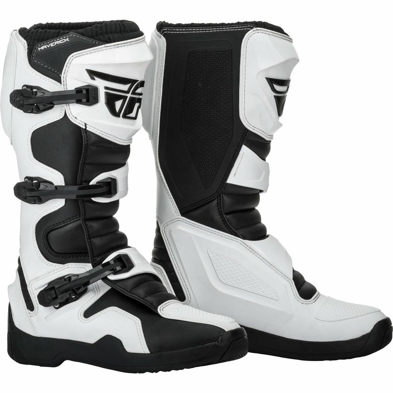 Fly Racing Maverick Moto Boots Footwear Fly Racing WHITE/BLACK 14