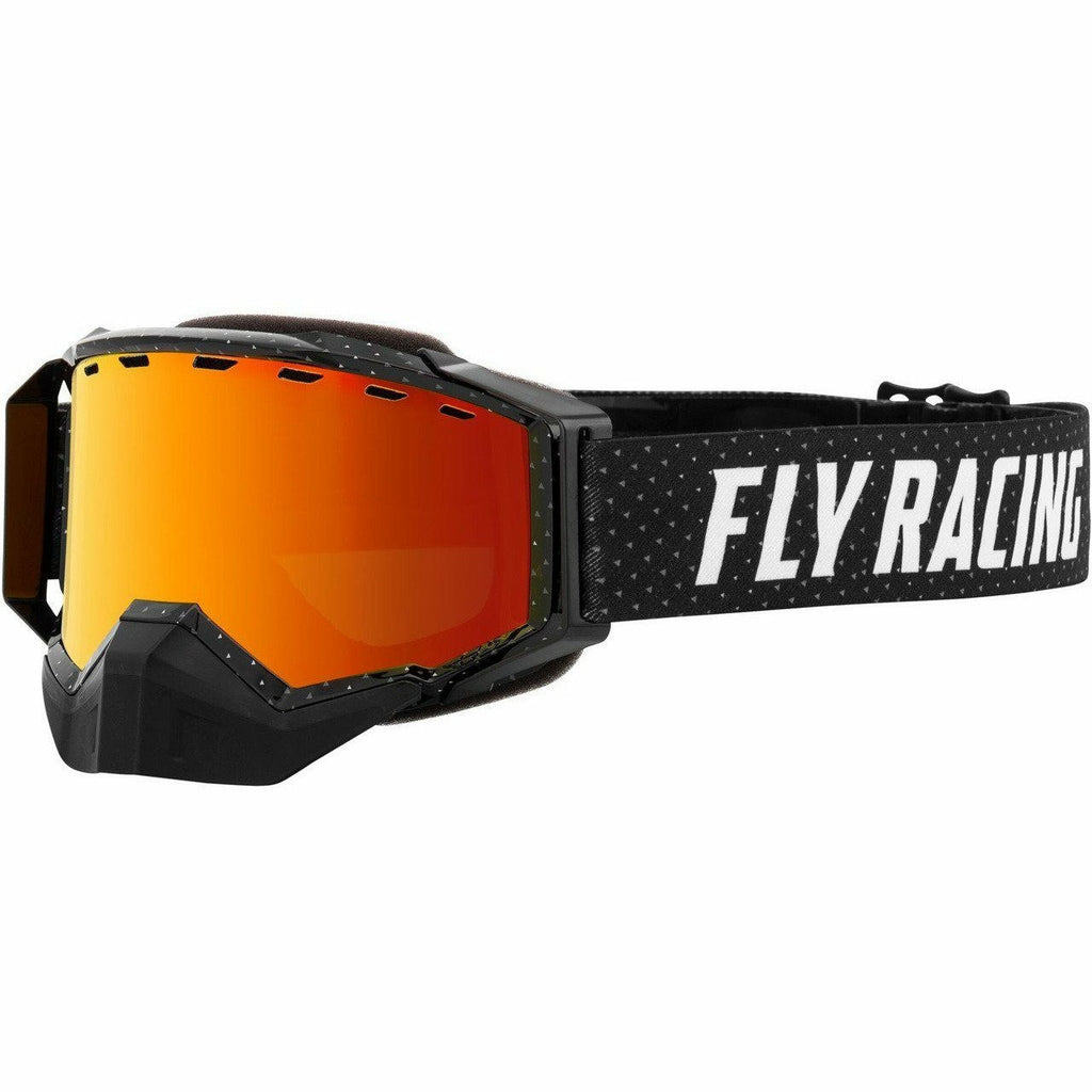 Fly Racing Zone Snow Goggle 21 Fly Racing 2021 Black/Grey W/Red Mirror/Brown Lens 21