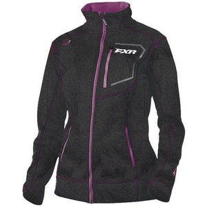 FXR Elevation Tech Women's Zip-Up | Sale Jacket FXR Charcoal Heather/Wineberry X-Small