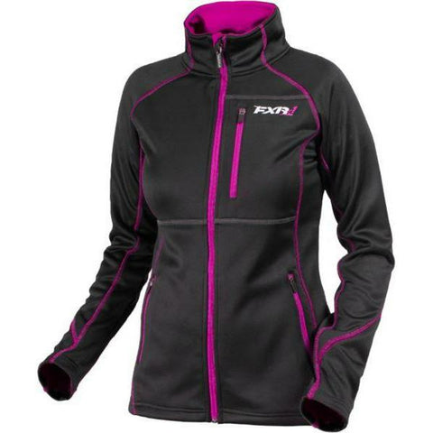 FXR Elevation Tech Women's Zip-Up | Sale Jacket FXR Black/Wineberry 4