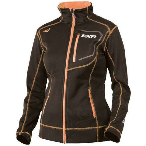 FXR Elevation Tech Women's Zip-Up | Sale Jacket FXR Black/Electric Tangerine X-Small