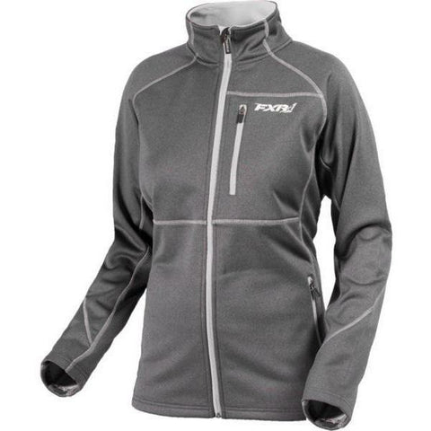 FXR Elevation Tech Women's Zip-Up | Sale Jacket FXR Charcoal/Silver 4