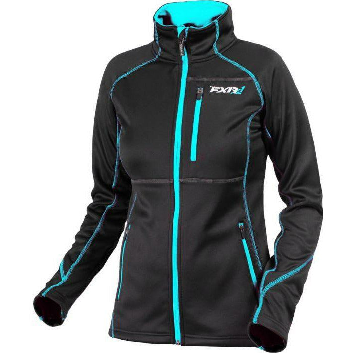 FXR Elevation Tech Women's Zip-Up | Sale Jacket FXR Black/Aqua 4