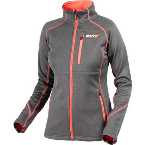 FXR Elevation Tech Women's Zip-Up | Sale Jacket FXR Charcoal Heather/Electric Tangerine 4